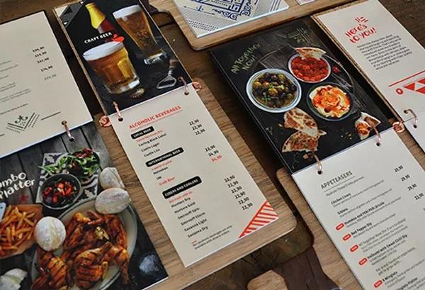thiết kế menu nando chow