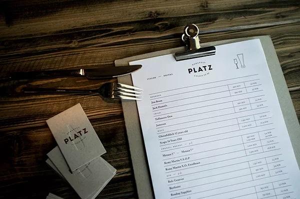 thiết kế menu platz 2
