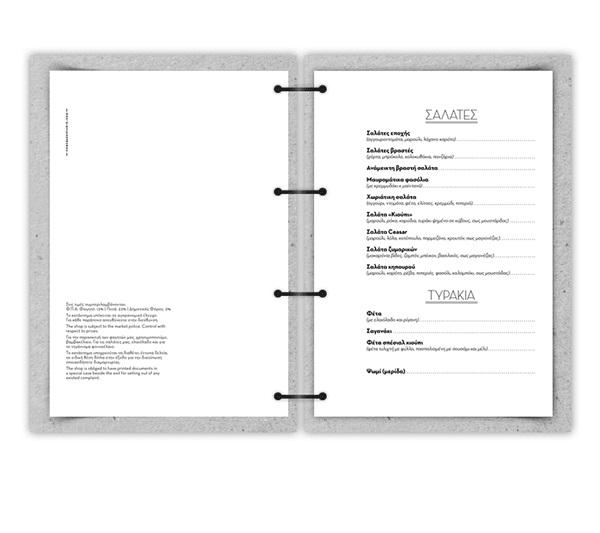 thiết kế menu QP Restaurant
