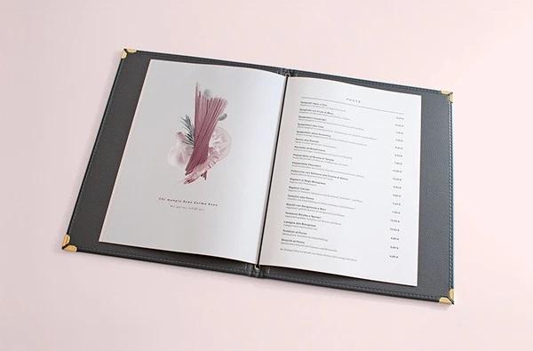 thiết kế menu ristorante firenze