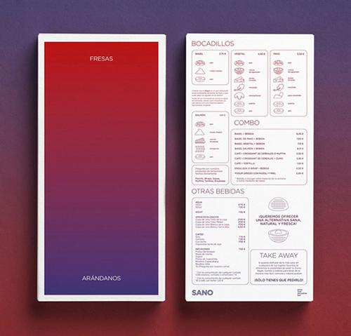 thiết kế menu sano juice