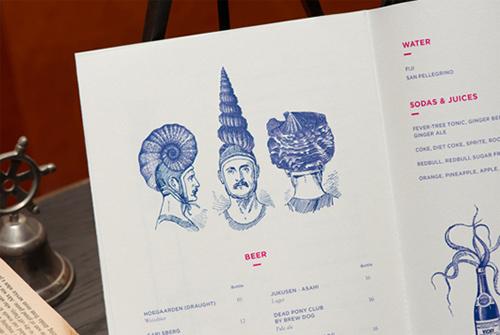 thiết kế menu pelican