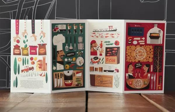 thiết kế menu zizzi