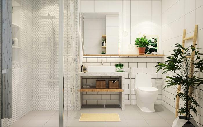 thiết kế nhà tắm tối giản đẹp