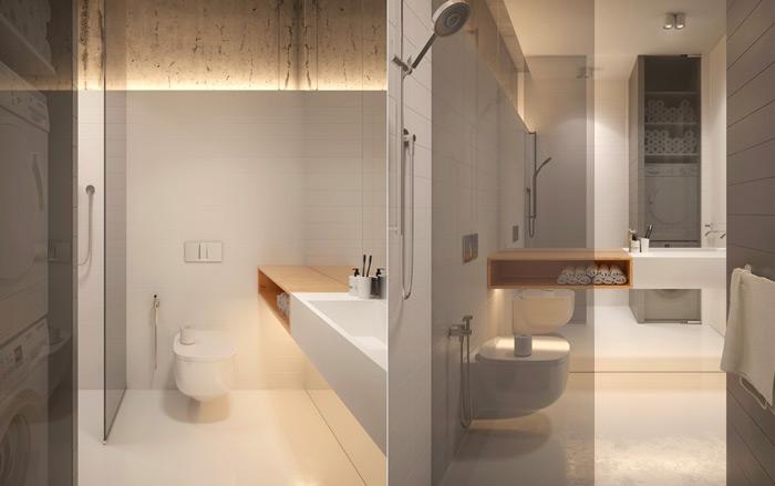 thiết kế nhà tắm với ánh sáng thân thiện