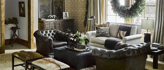 thiết kế phòng khách đầy ấm cúng vùng Montana
