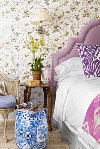 thiết kế nội thất phòng ngủ ngập tràn sắc màu
