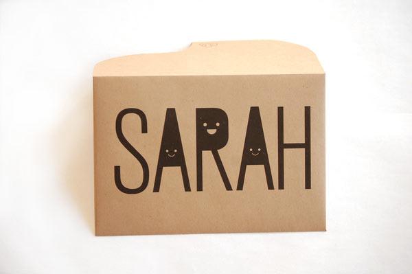 thiết kế phong bì birthday for sarah