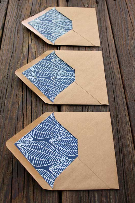 thiết kế phong bì patterned envelope