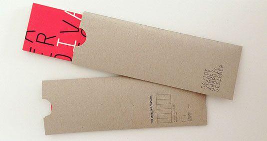 thiết kế phong bì thư davide Vignes