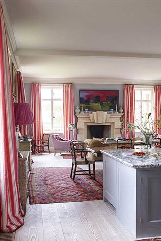 thiết kế phòng khách vùng quê nước Anh