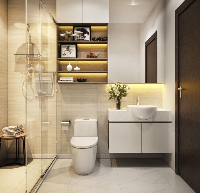 thiết kế phòng tắm đẹp có kết cấu tốt