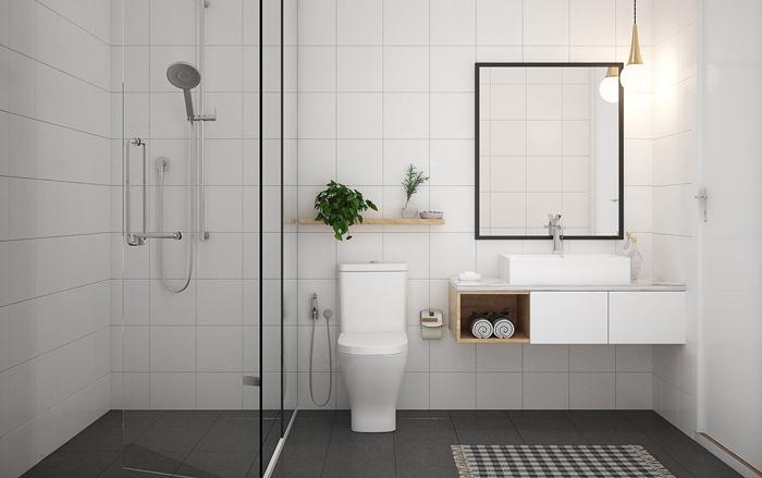 thiết kế phòng tắm đẹp, đơn giản, cuốn hút