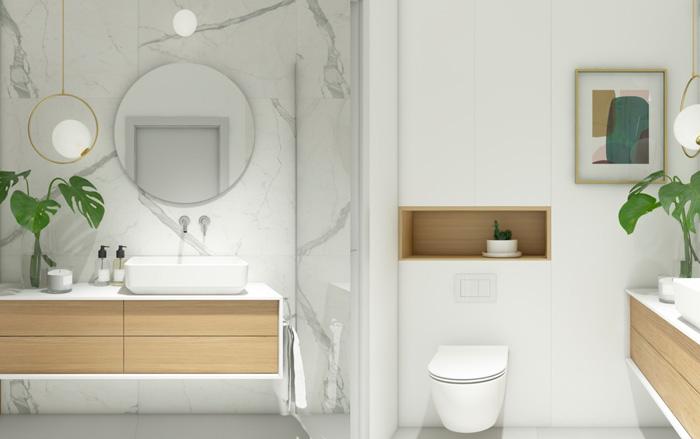 thiết kế phòng tắm sinh động