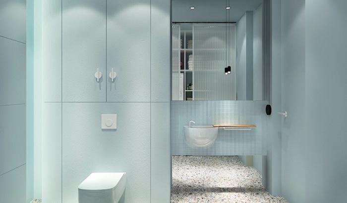 thiết kế phòng tắm theo phong cách truyền thống