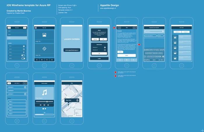 thiết lập wireframe cho ứng dụng
