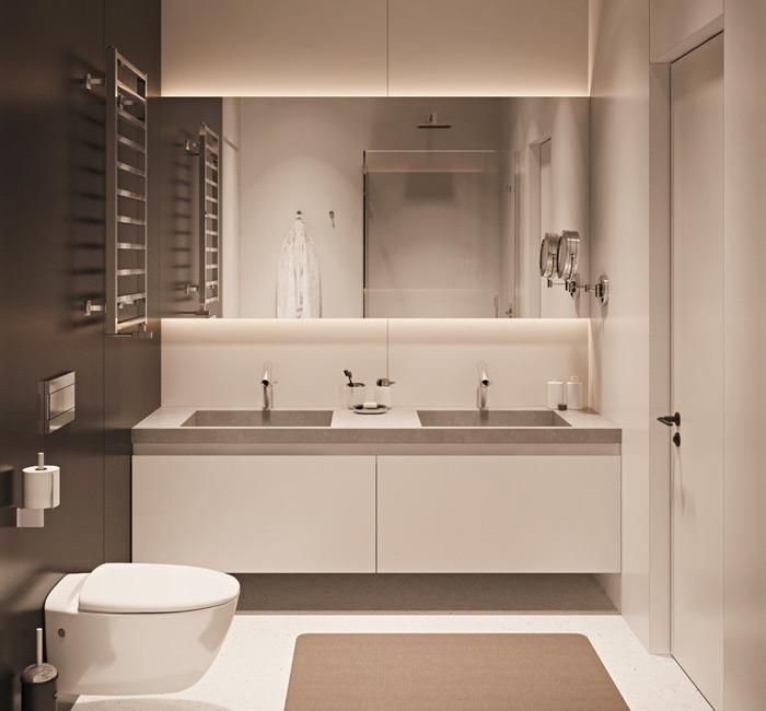 trường phái tối giản cho không gian nhà tắm nhỏ hẹp