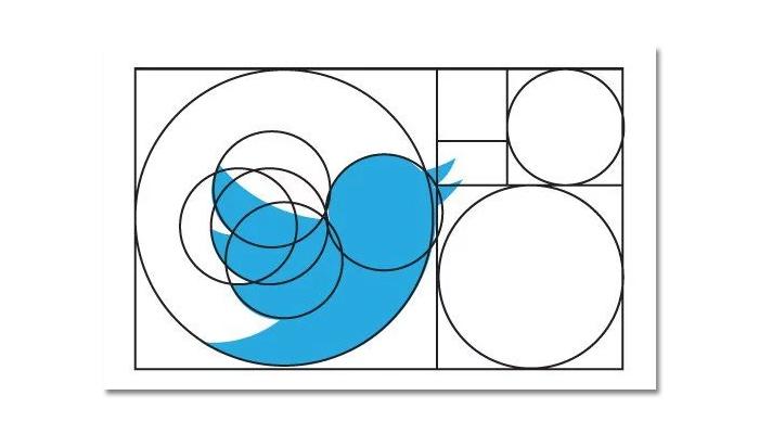 tỷ lệ vàng trong logo twitter