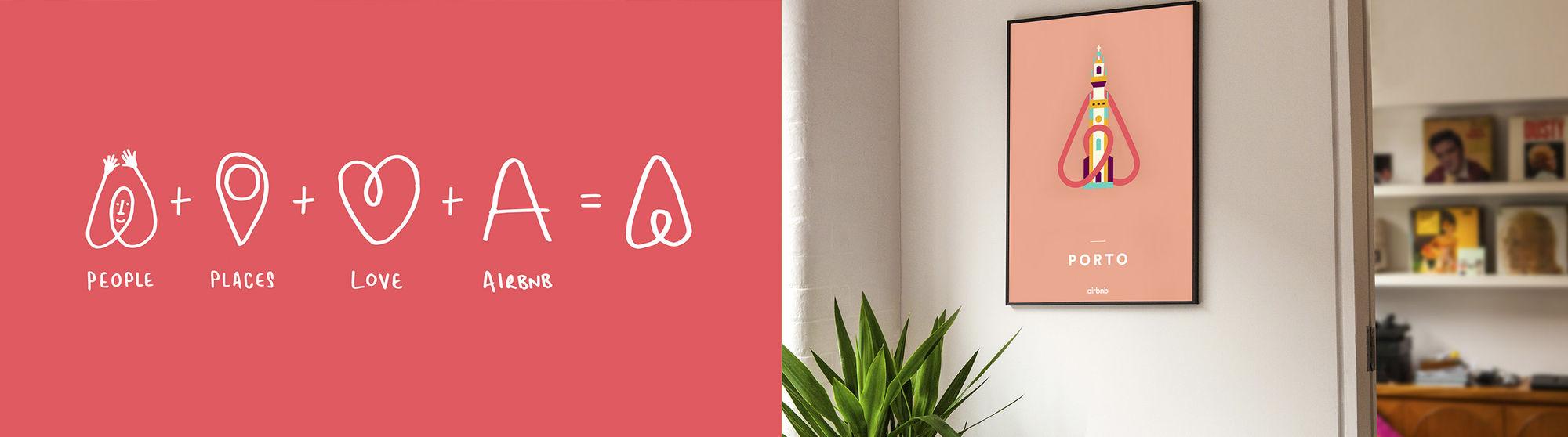 ứng dụng của logo Airbnb