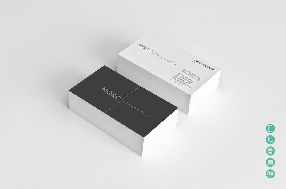 ứng dụng của màu sắc trong thiết kế card visit