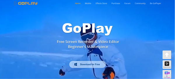 ứng dụng quay màn hình máy tính Go Play Editor
