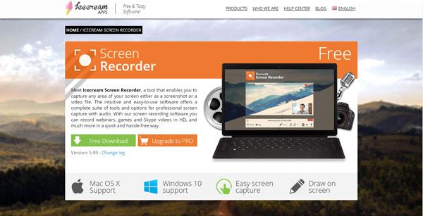 ứng dụng quay màn hình máy tính Icecream