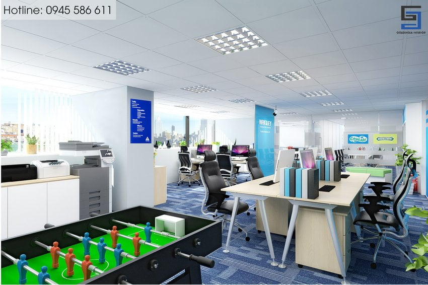 thiết kế nội thất văn phòng trẻ trung