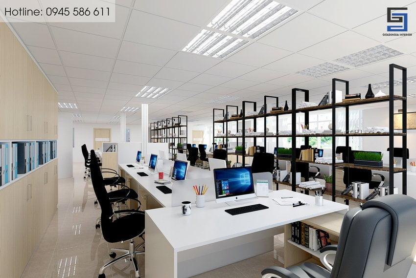 Văn phòng làm việc tối ưu sử dụng