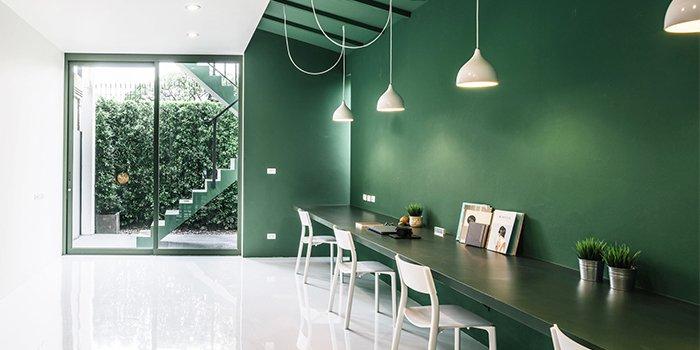 văn phòng tối giản green 26