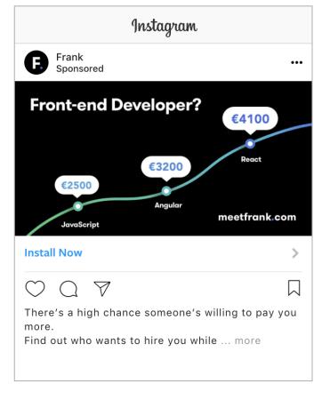ví dụ mẫu quảng cáo instagram frank