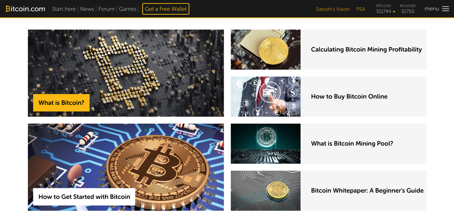 website của bitcoin