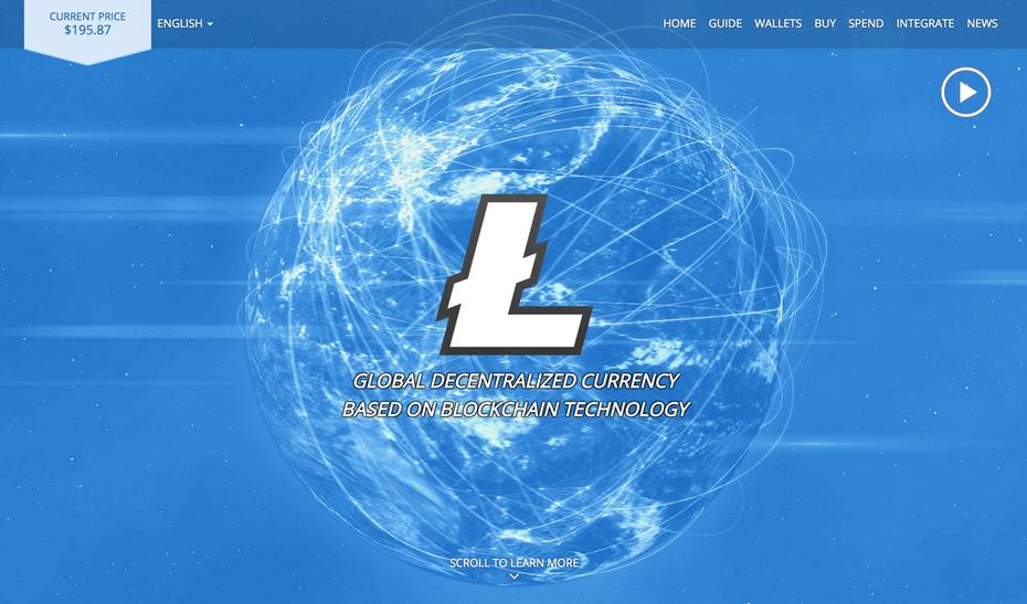 website của Litecoin