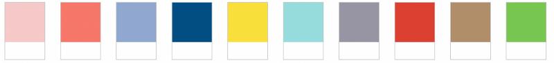 xu hướng dải màu sắc banner quảng cáo