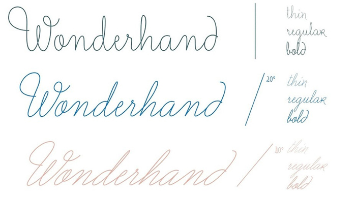 xu hướng font chữ 2019 viết tay 3