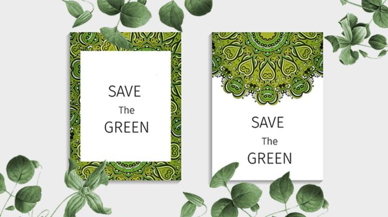 xu hướng thiết kế menu thân thiện môi trường