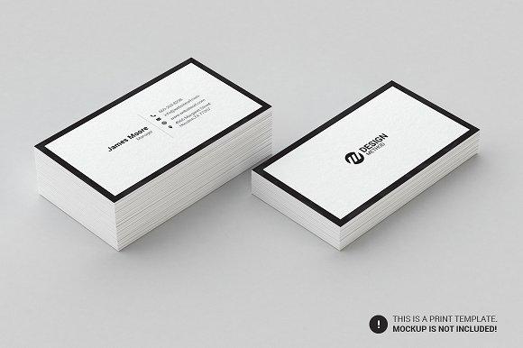 xu hướng thiết kế name card tối giản