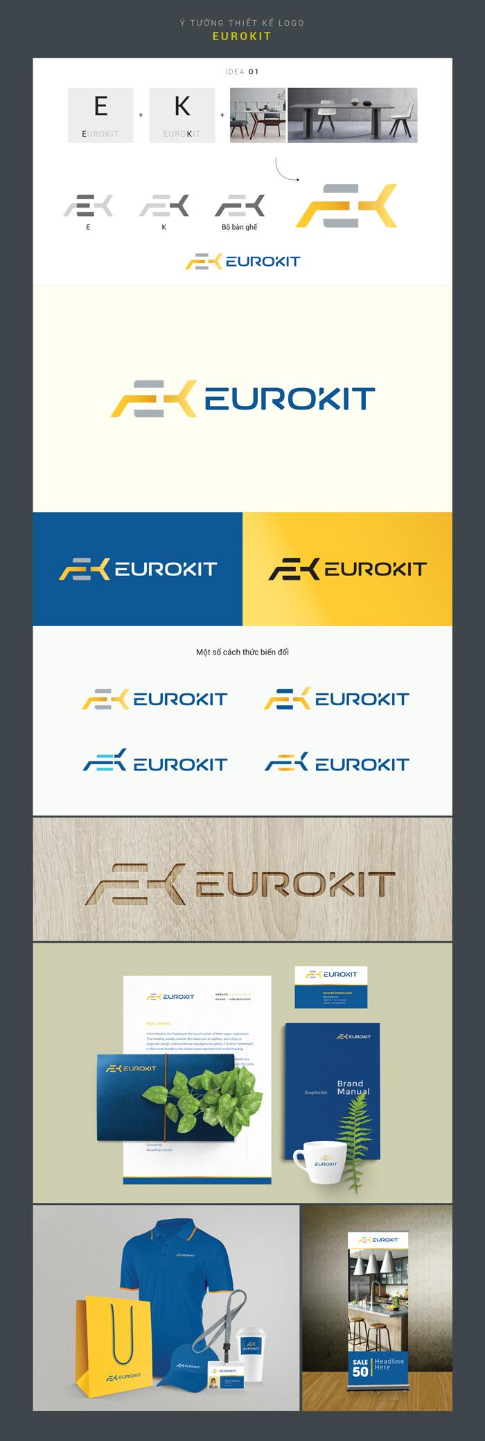 ý tưởng thiết kế Logo Euro Kit 1